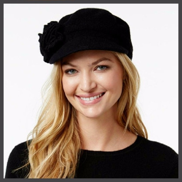 f45a9634b026f Nine-West-Women-039-s-Knitted-Black-color-Hat Ni